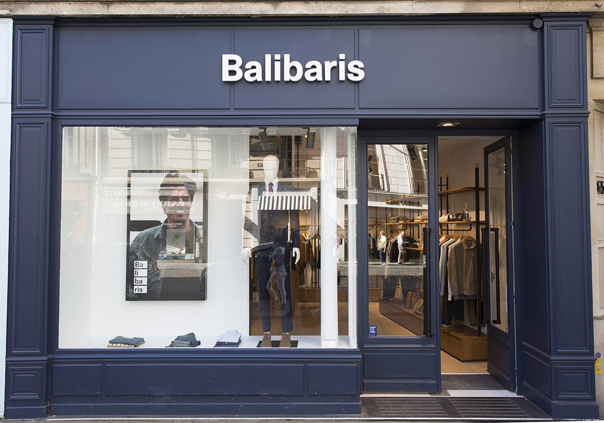 réalisation de la façade de la boutique Balibaris